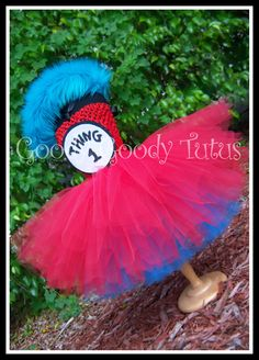 SILLY LITTLE THING Dr. Seuss Inspired Thing 1 or 2 Tutu Costume - Large 4-6t. via Etsy.