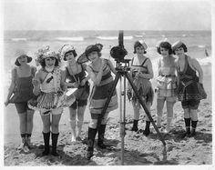 In 1915, Mack Sennett assembled a bevy of girls known as the Sennett Bathing Beauties to appear in provocative bathing costumes in comedy short subjects, in promotional material, and in promotional events like Venice Beach beauty contests