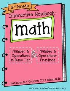 3rd Grade Interactive Notebook - Number & Operation in Base Ten