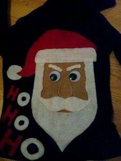 Just made this DIY ugly christmas sweater