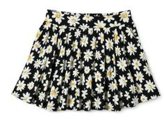 Pair this with a jean shirt for a classic summer look! #daisies #skirt #floral #summerstyle #black #white #classic #cute #style