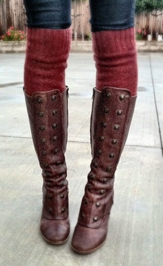 Boots with Sweater leg warmers