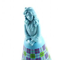 Vintage 70s 80s AVON Blue Perfume Bottle Preppy Girl in Plaid by TheBabyDynosaur, $5.99