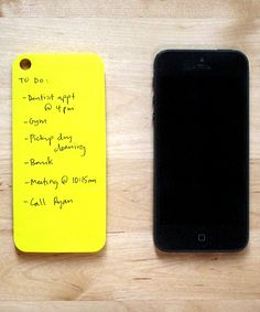 Yellow Paperback Adhesive Notes for iPhone 5/5s