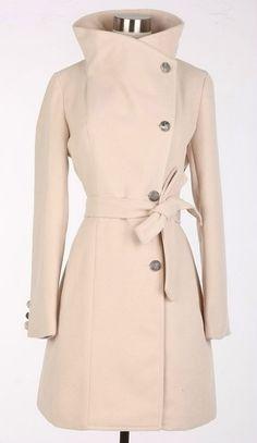 Beige Wool Jacket Women Coat Pashm women dress by fashiondress6