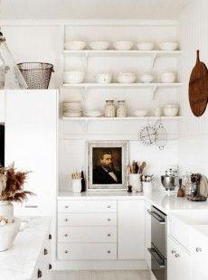 interior, open shelves, design kitchen, kitchen counters, cottage kitchens, open shelving, kitchen designs, dream kitchens, white kitchens
