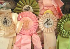 Vintage horse show ribbons. <3