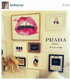 wall collage, wall art, wall decor, fashion, frames, frame wall, gallery walls, closet, art walls