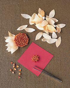 Make Sunflowers - Cornhusk Flowers - Step 5 - MarthaStewart.com