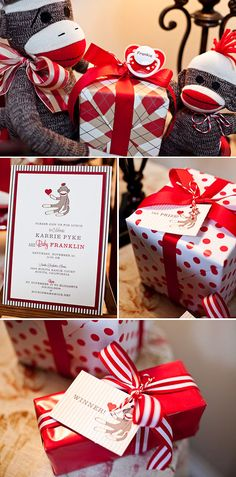 I LOVE the sock monkey baby shower theme... maybe can use it some day for someone. shower ideas, sock monkeys, monkey theme, baby birthday, baby shower themes, sock monkey birthday, monkey party, babi shower, baby showers