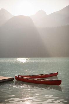 canoes...
