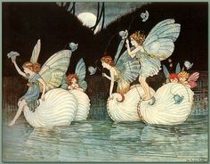 'Fairy Islands' from the book Elves and Fairies 1916 by Ida Rentoul Outhwaite by Plum leaves, via Flickr
