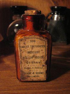 Mercury Poison Antique Quack Medicine Bottle by Rxe08 on Etsy