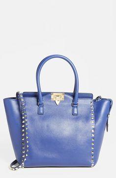 Valentino 'Rockstud - Vitello' Double Handle Leather Tote, Medium | Nordstrom 2,145.00