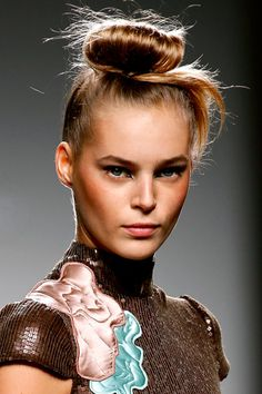"""Moño estilo """"japonés"""". #peinado #recogido #cabello #pelo #hairstyle"""