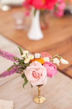 arrang idea, flower arrang, centerpiec, color, petit flower