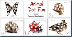 animal dot alphabet