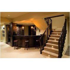 Basement stair lights