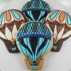 Beautiful Balloon Cookies by a Dozen Eggs Bakeshop