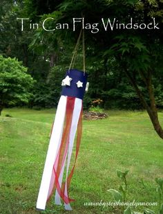 Tin Can Flag Windsock {for the kiddies} - bystephanielynn