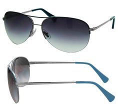 Great for race weekend! Women's Coach Sunglasses  Rimless Aviator (S1013) in Gunmetal