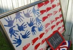 American Flag by simplycyfair: Here is the link. http://simplycyfair.com/memorial-day-arts-crafts.aspx #Kids #Crafts #Flag #simplycyfair