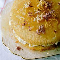 elderflower and lemon cake