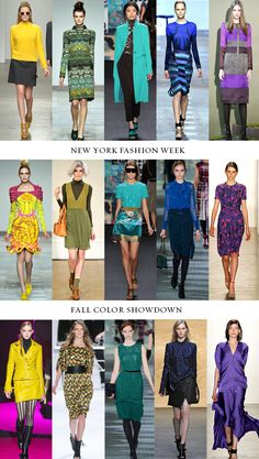 NYFW Fall 2012 Colors