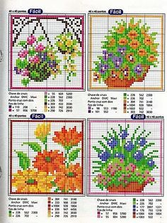 Cross-stitch Floral Cards patterns, part 2...   Gallery.ru / Фото #101 - Игольницы - elena-555