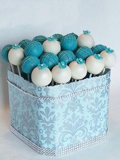 Cake Pops - Turquoise & White