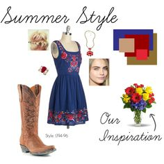 """""""Summer Style"""" by allensboots on Polyvore #cowboyboots #oldgringo"""