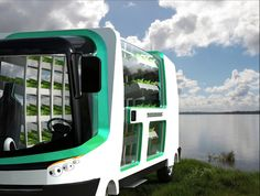 Food & Water 2030 is Argentine industrial designer Nicolás Chacana's concept for the cultivation of hydroponic produce in a mobile farm, specifically, an urban vehicle that grows and delivers food and drinkable water.   #hydroponics