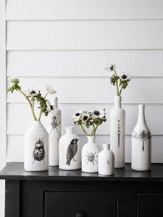 Vases with creepy crawly critters on them!