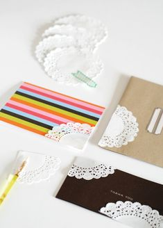 Lace Cornered Cards: An Easy (and Inexpensive!) Way to Upgrade Your Stationary. Free tutorial on Craftsy!
