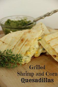 Grilled Shrimp and Corn Quesadillas