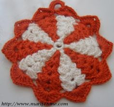 Tığ İşi Yeni Motif Tutacak Modeli ve Yapılışı crochet motif pattern