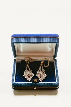 Art Deco antique drop earrings