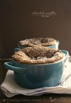 Chocolate Souffles for Two