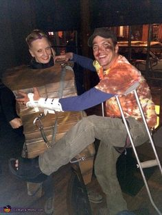 Rock Climbing Wall and Broken Climber - Creative Couple Costume
