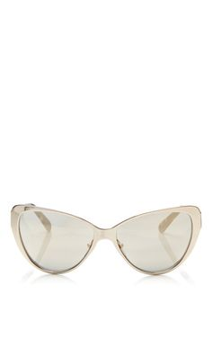 Capri Mirrored Cat-Eye Sunglasses by Prism Now Available on Moda Operandi