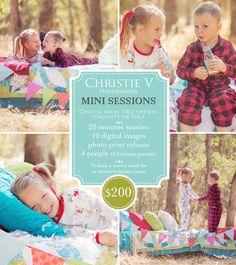 cute holiday mini session