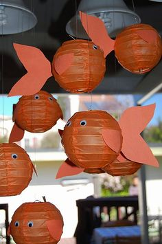 under the sea party - paper lantern Goldfish