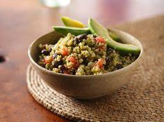 Spicy quinoa salad.