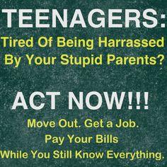 Teenagers v.s Stupid Parents