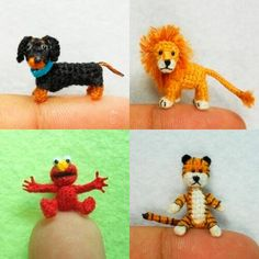 Oh wow! These tiny animals are so amazing and so, umm, tiny. For being so small, they have such depth and personality. Go check out the link for more. http://www.oddities123.com/tiny-knitted-animals/#more-28837
