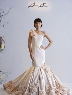 Dennis Basso - Asymmetric Mermaid Gown in Silk Faille