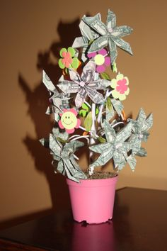 Money Tree!..... Money does grow on trees!  Fun way to give money as a gift!