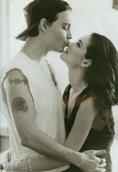 johnny depp, peopl, winona ryder, johnni depp, engagement photos, herb ritt, celebrity couples, johnnydepp, kisses