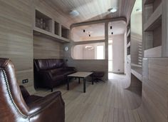 Oak Tube Apartment by Peter Kostelov