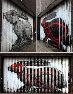 #street #art #graffiti #rabbit #roa